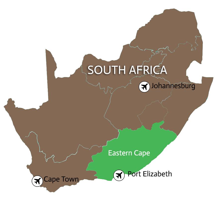 Map hunting safari South Africa