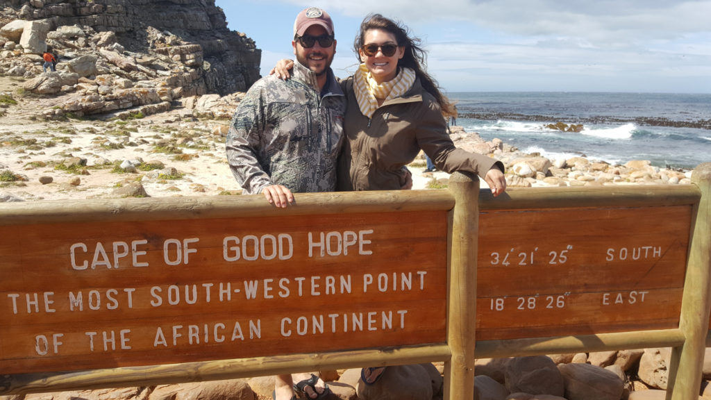 visiting cape of good during safari in South Africa